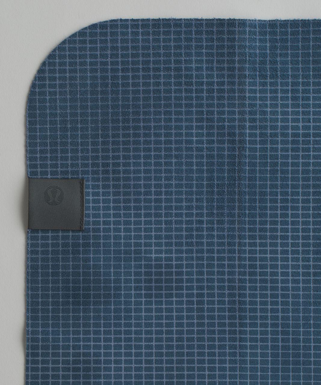 Lululemon The (Small) Towel - Off Grid Tempest Blue Hawk Blue