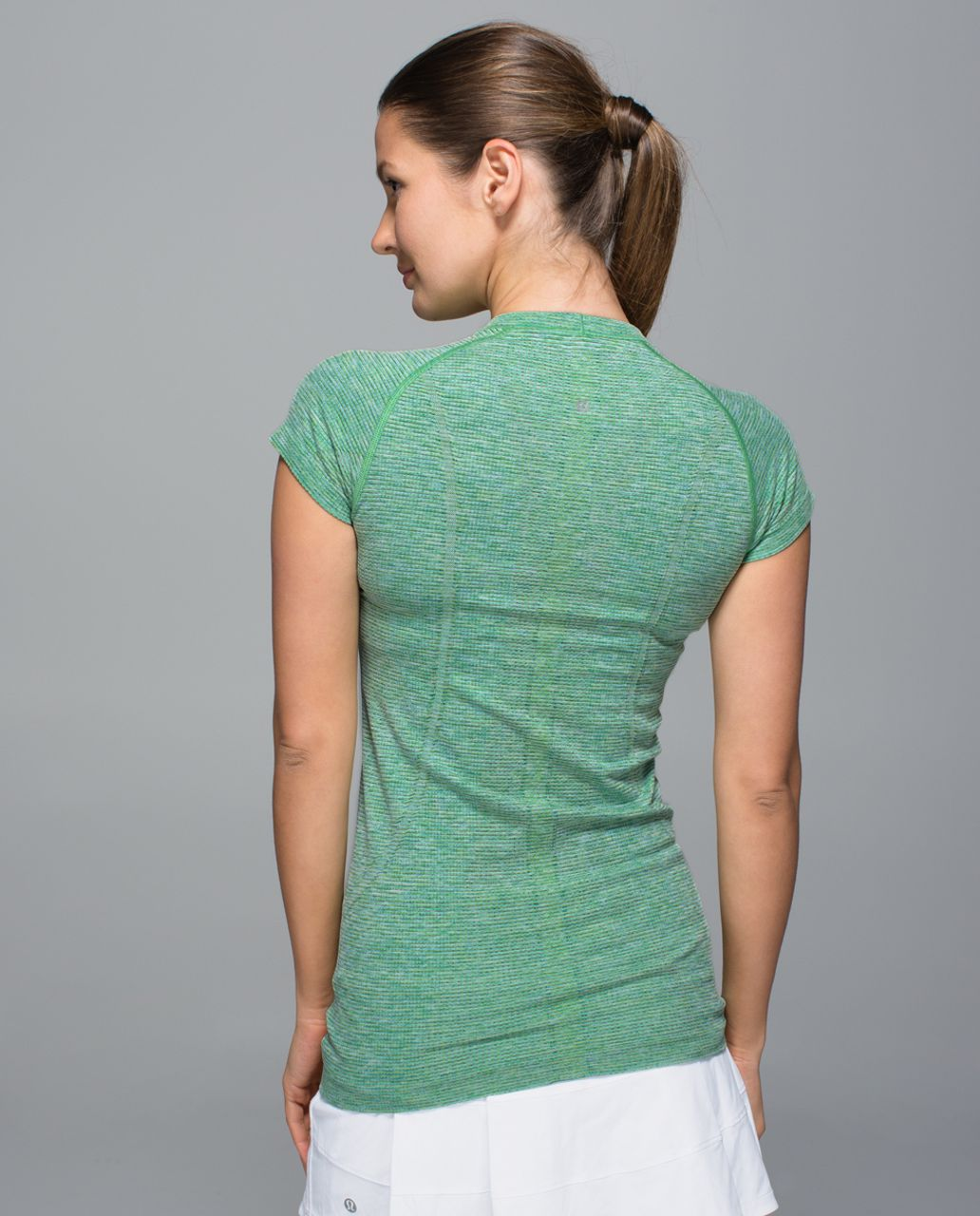 Lululemon Swiftly Tech Short Sleeve Crew - Pistachio / Black
