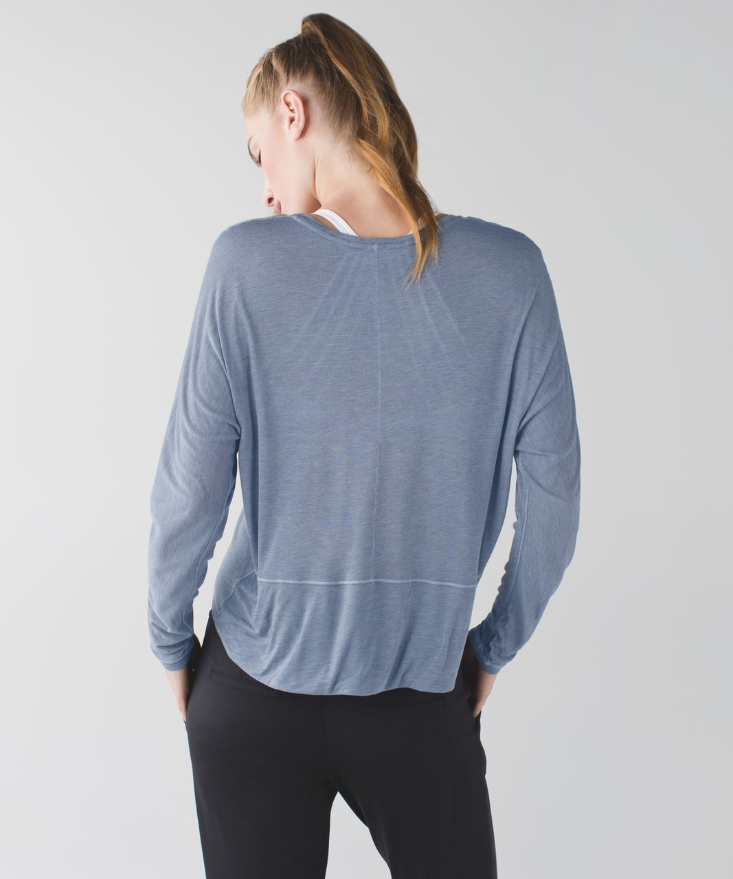 Lululemon Made To Layer Long Sleeve Tee - Heathered Mod Blue Denim