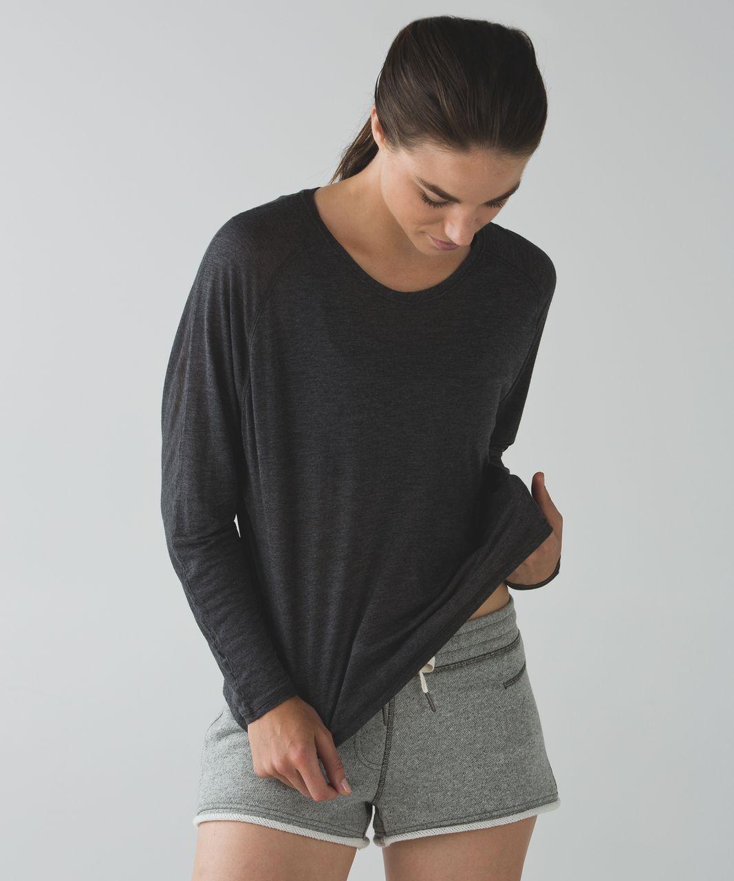 Lululemon Made To Layer Long Sleeve Tee - Heathered Mod Black