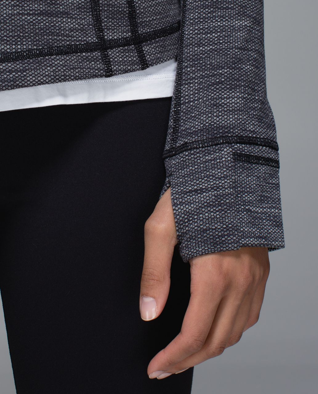 Lululemon Define Jacket - Diamond Jacquard Space Dye Black Slate