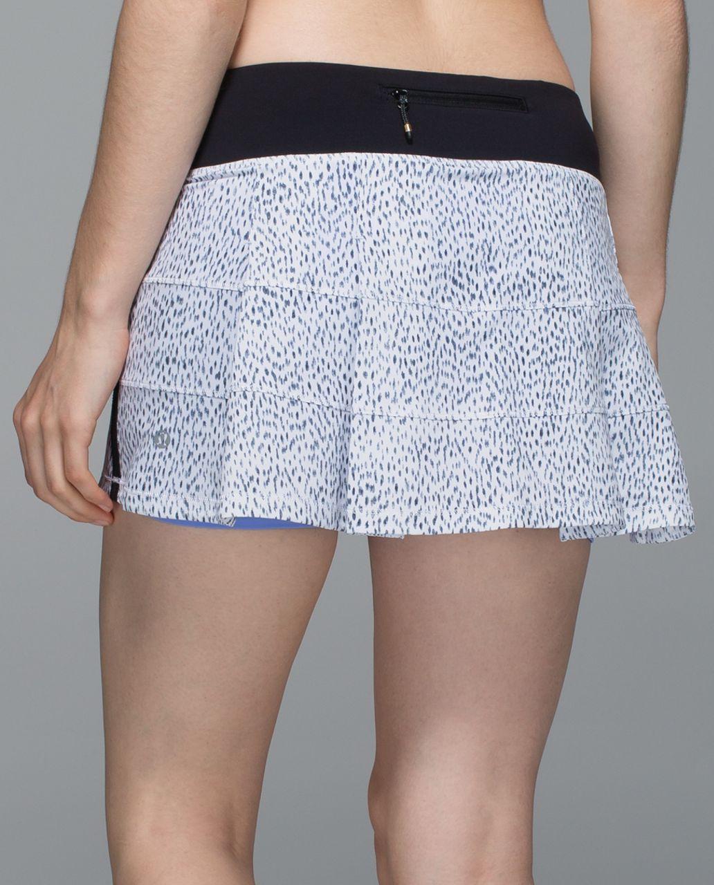 Lululemon Pace Rival Skirt II *4-way Stretch (Regular) - Dottie Dash White Black / Black
