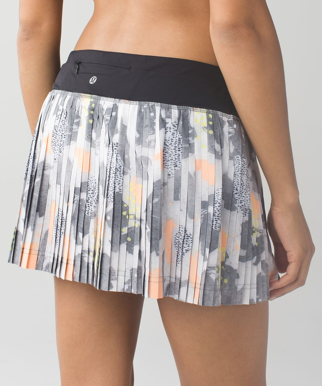 70d3bbdafb Lululemon Pleat To Street Skirt II - Mini Art Pop White Multi / Black - lulu  fanatics
