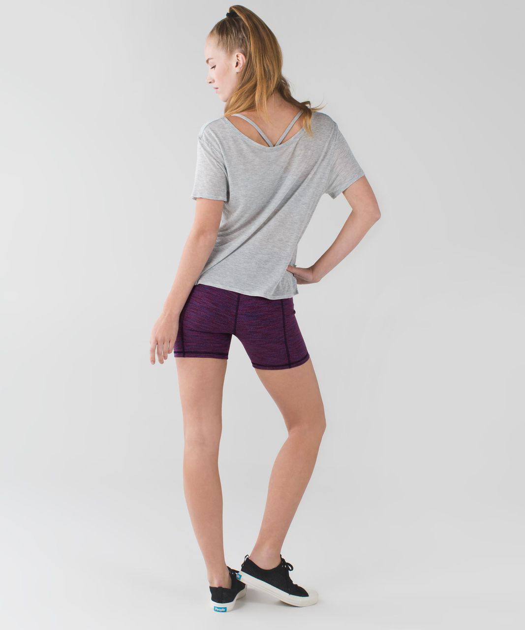 Lululemon Groove Short II (Roll Down - Regular) - Diamond Jacquard Space Dye Naval Blue Jewelled Magenta