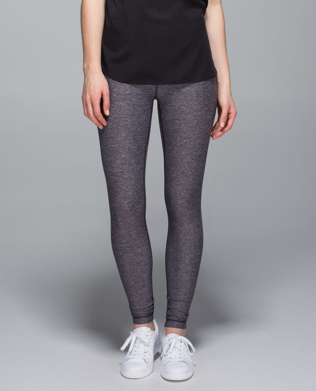 Lululemon Wunder Under Pant (Roll Down) - Heathered Naval Blue