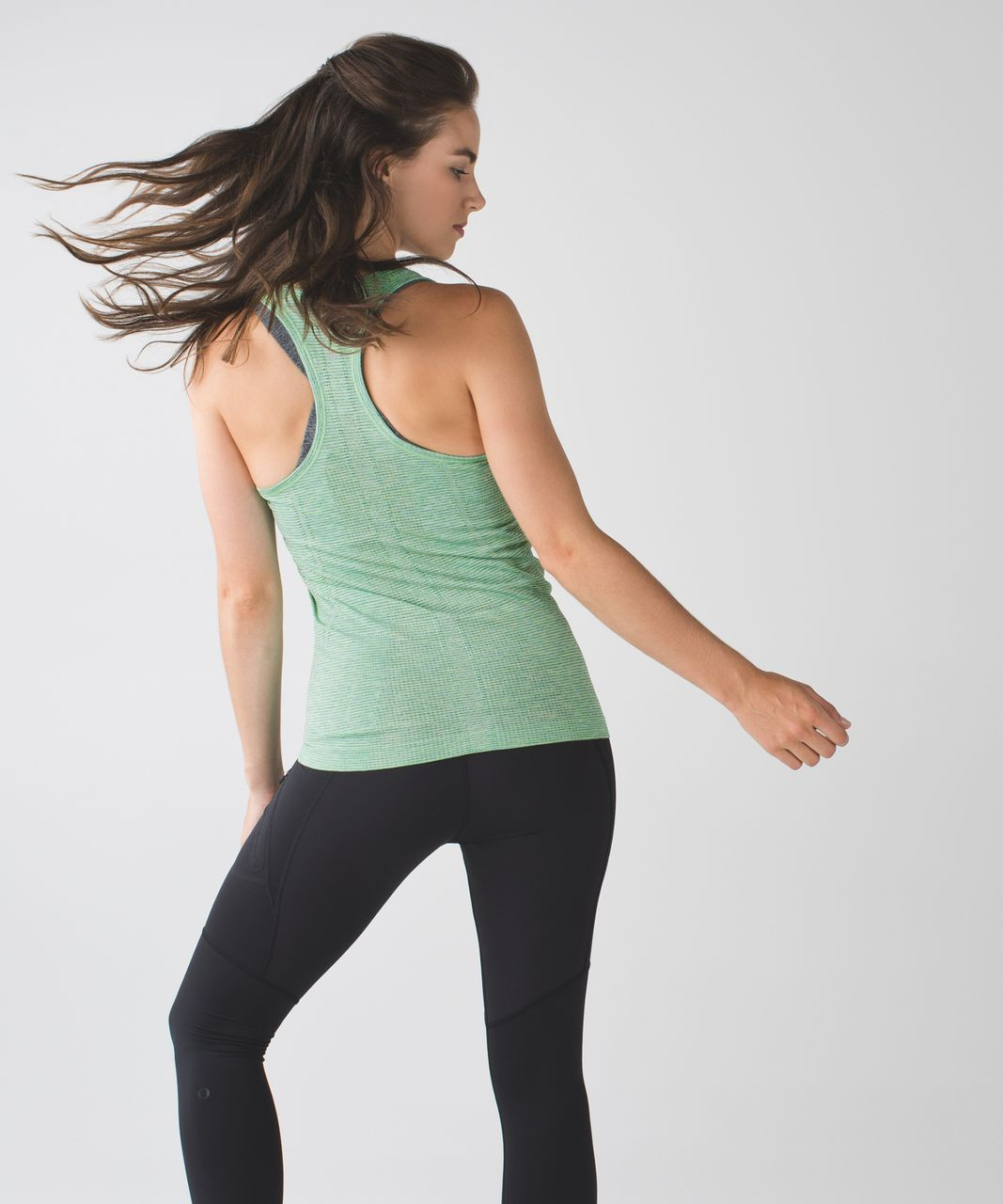 Lululemon Swiftly Tech Racerback - Pistachio / Black