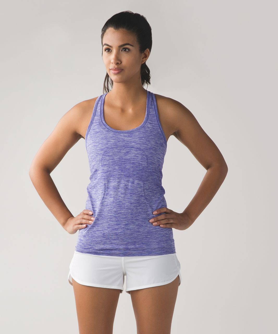 Lululemon Swiftly Tech Racerback - Heathered Iris Flower