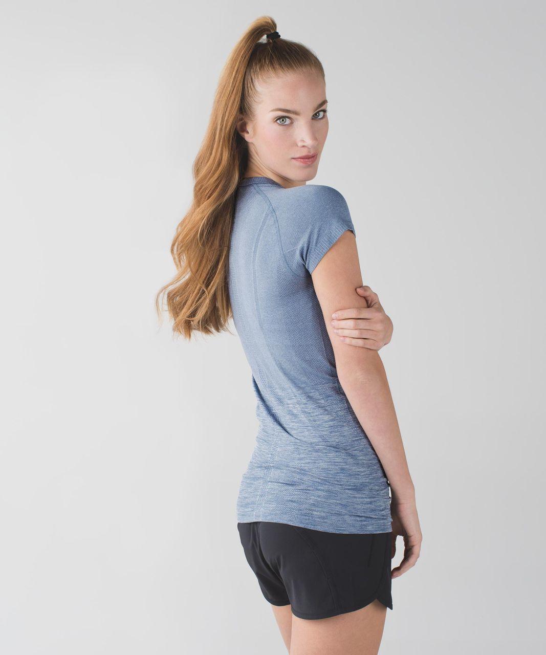 Lululemon Swiftly Tech Short Sleeve Crew - Heathered Blue Denim