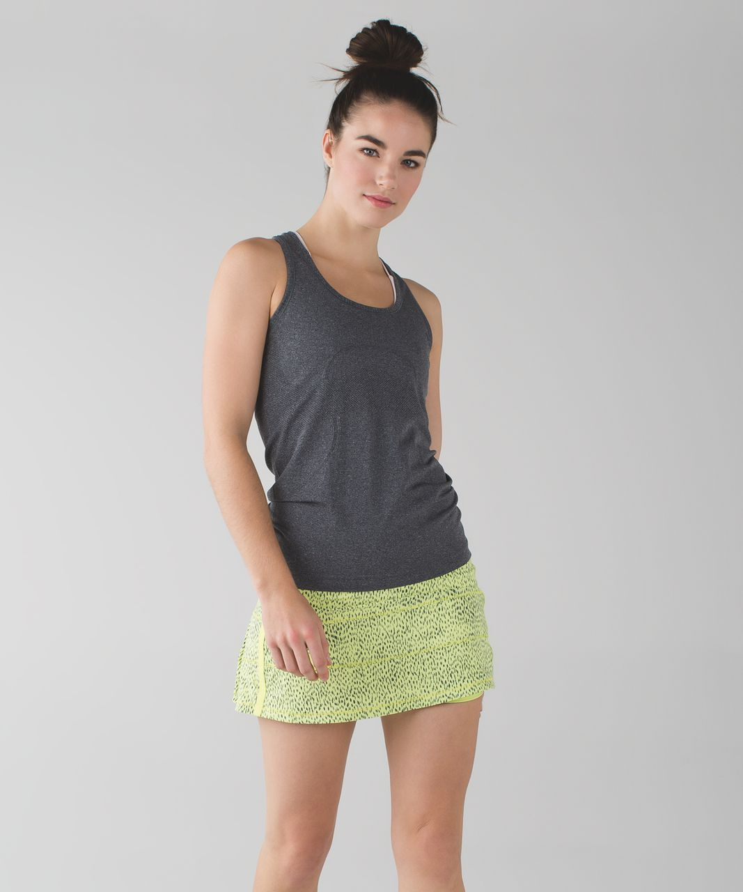 Lululemon Pace Rival Skirt II *4-way Stretch (Regular) - Dottie Dash Clarity Yellow Black / Clarity Yellow