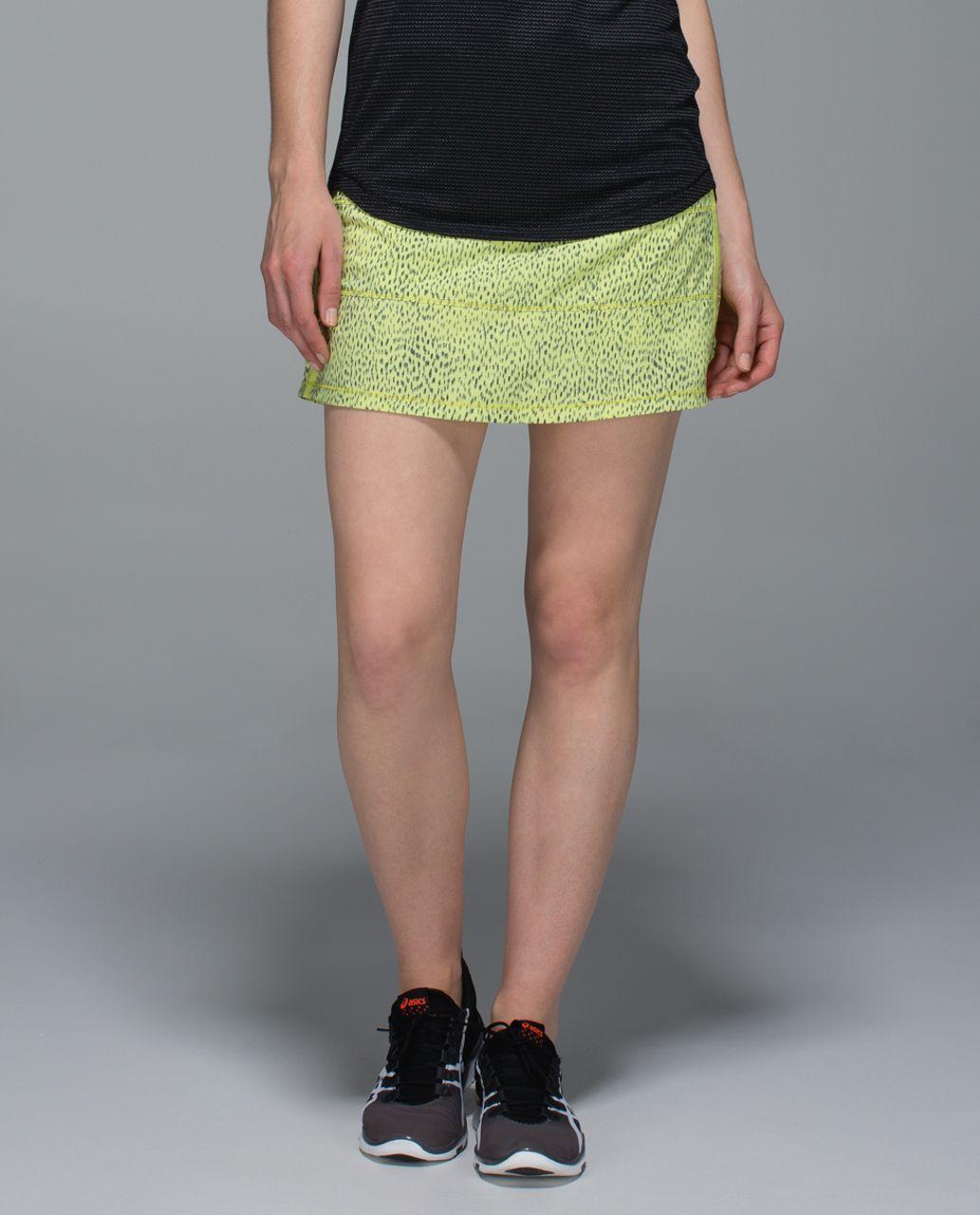 Lululemon Pace Rival Skirt II *4-way Stretch (Tall) - Dottie Dash Clarity Yellow Black / Clarity Yellow