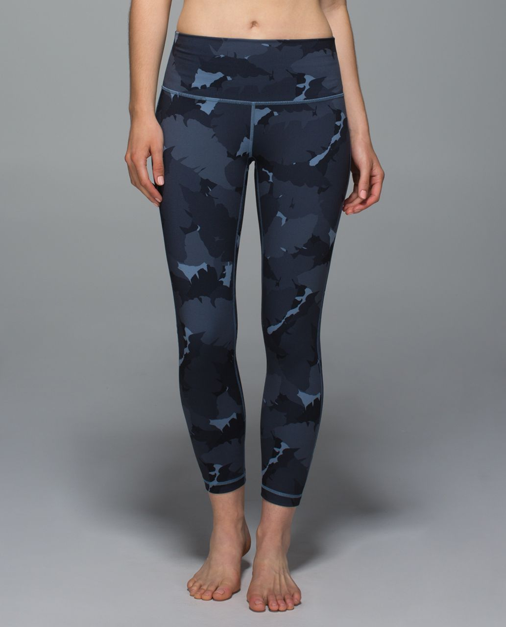 Lululemon High Times Pant *Full-On Luon - Palm Party Blue Denim Black