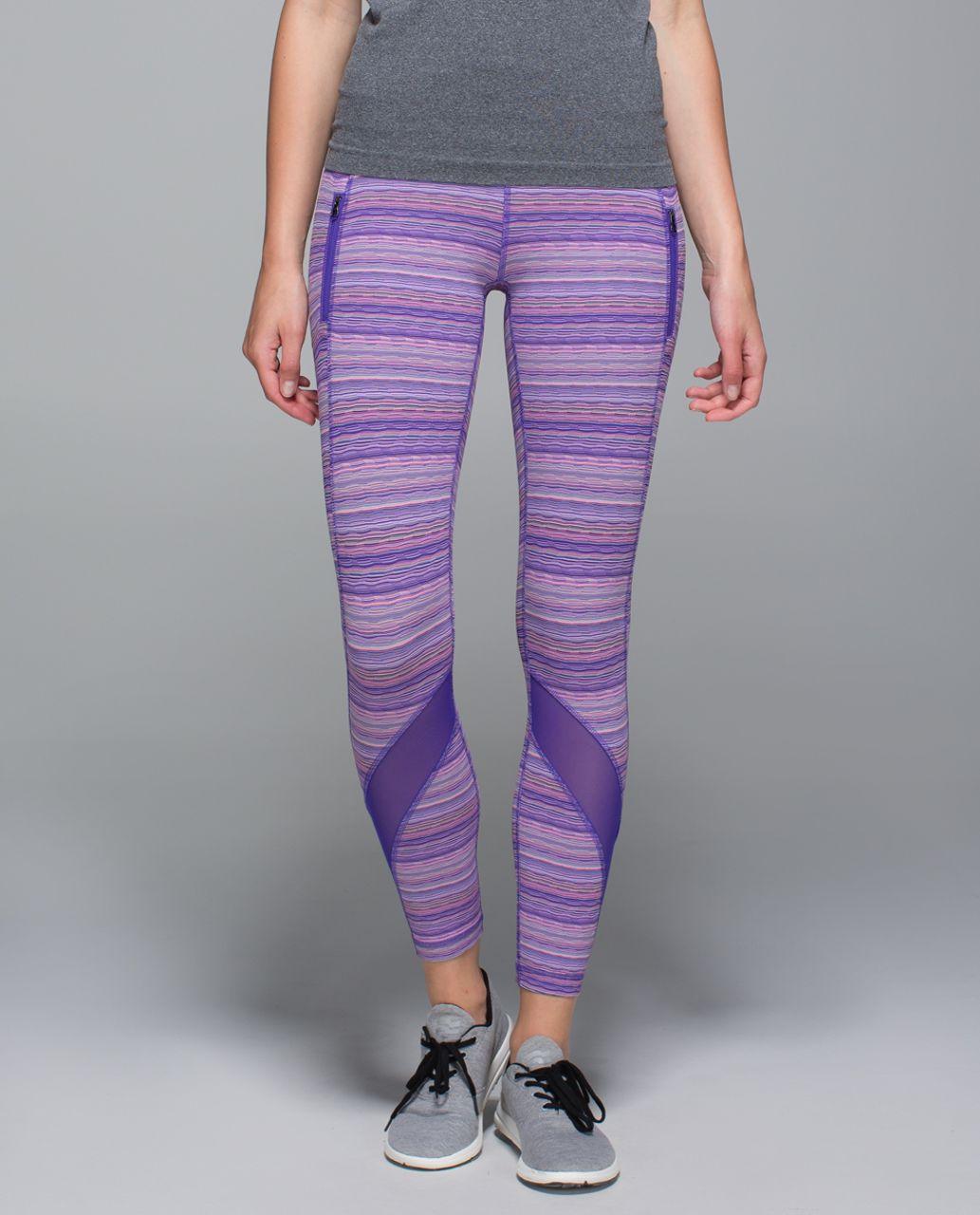 Lululemon Inspire Tight II (Mesh) - Space Dye Twist Iris Flower Pink Shell / Iris Flower