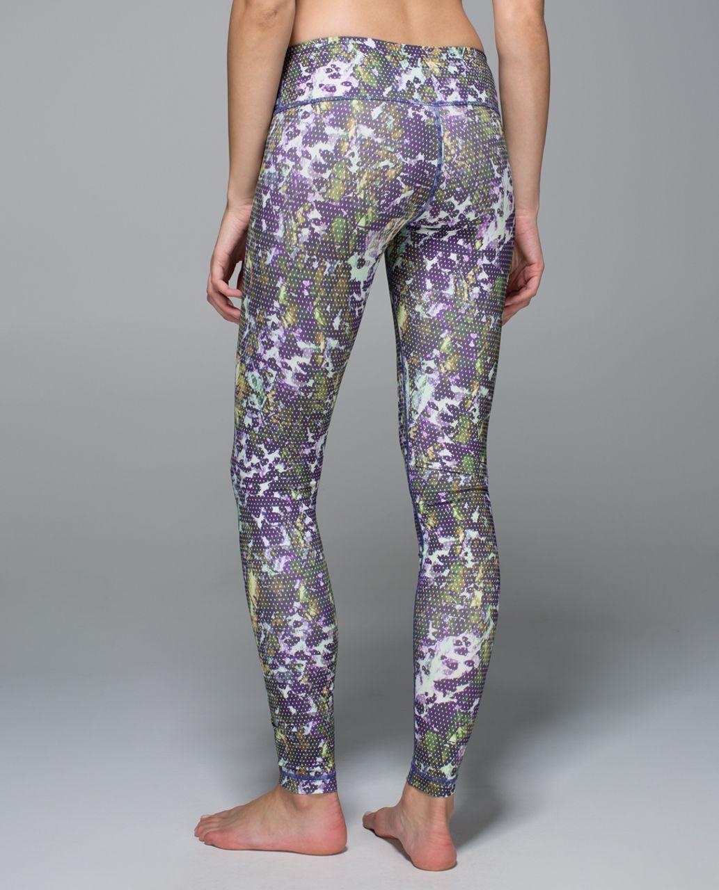 Lululemon Wunder Under Pant *Full-On Luxtreme - Floral Sport Backdrop Iris Flower Multi