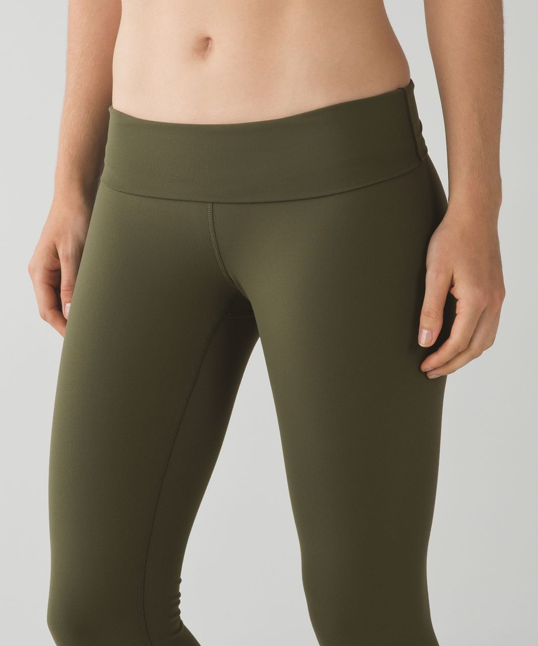 Lululemon Wunder Under Pant *Full-On Luon (Roll Down) - Fatigue Green