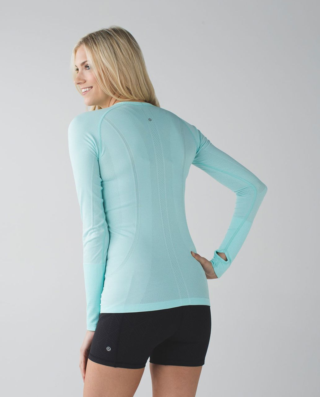 Lululemon Swiftly Tech Long Sleeve Crew - Heathered Tranquil Blue