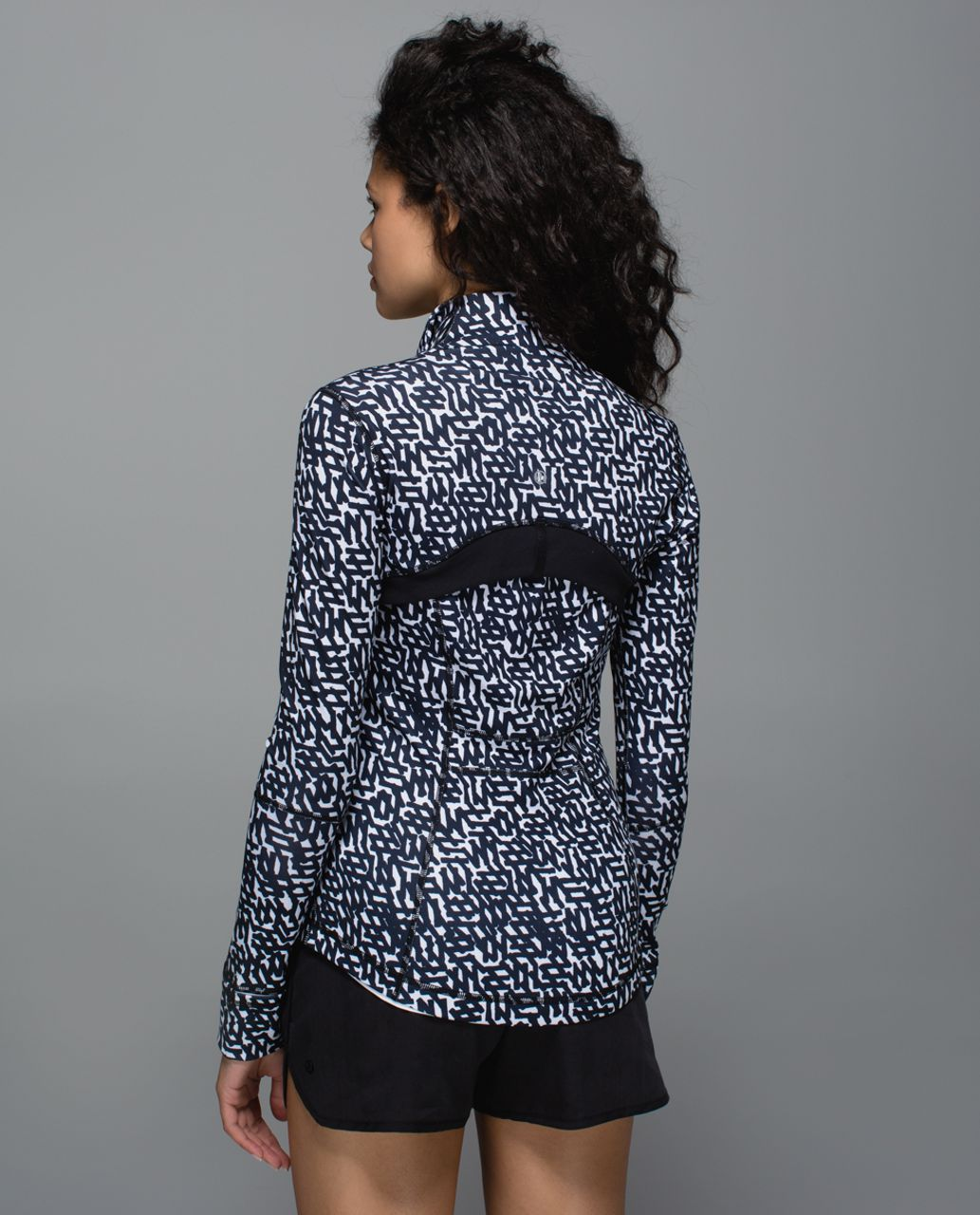 Lululemon Define Jacket - Net Pop White Black / Black