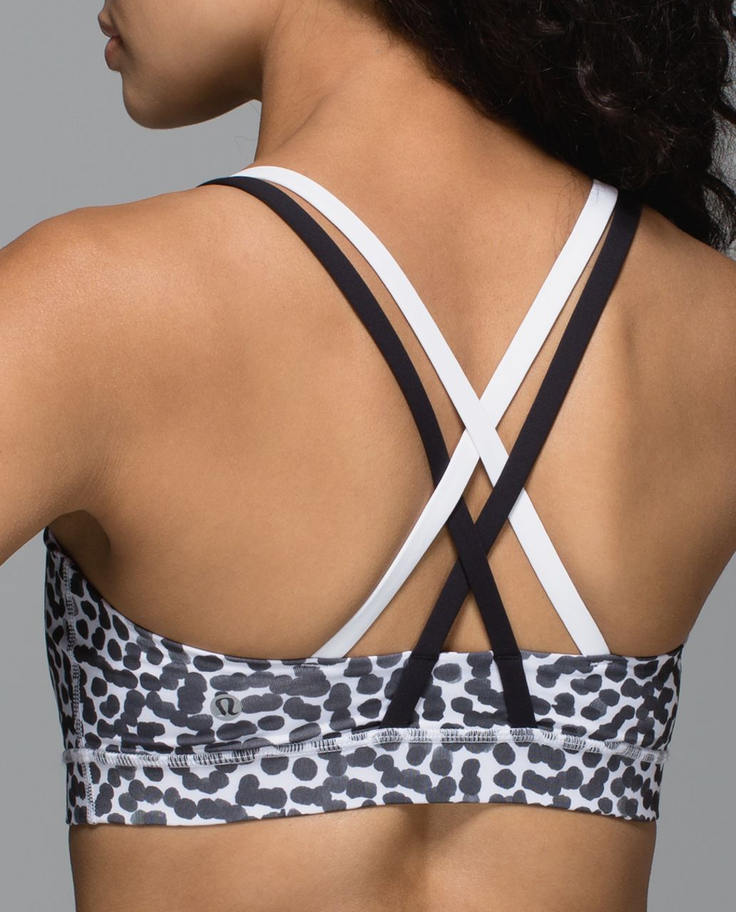 Lululemon Energy Bra - Ace Spot White Black / Black / White