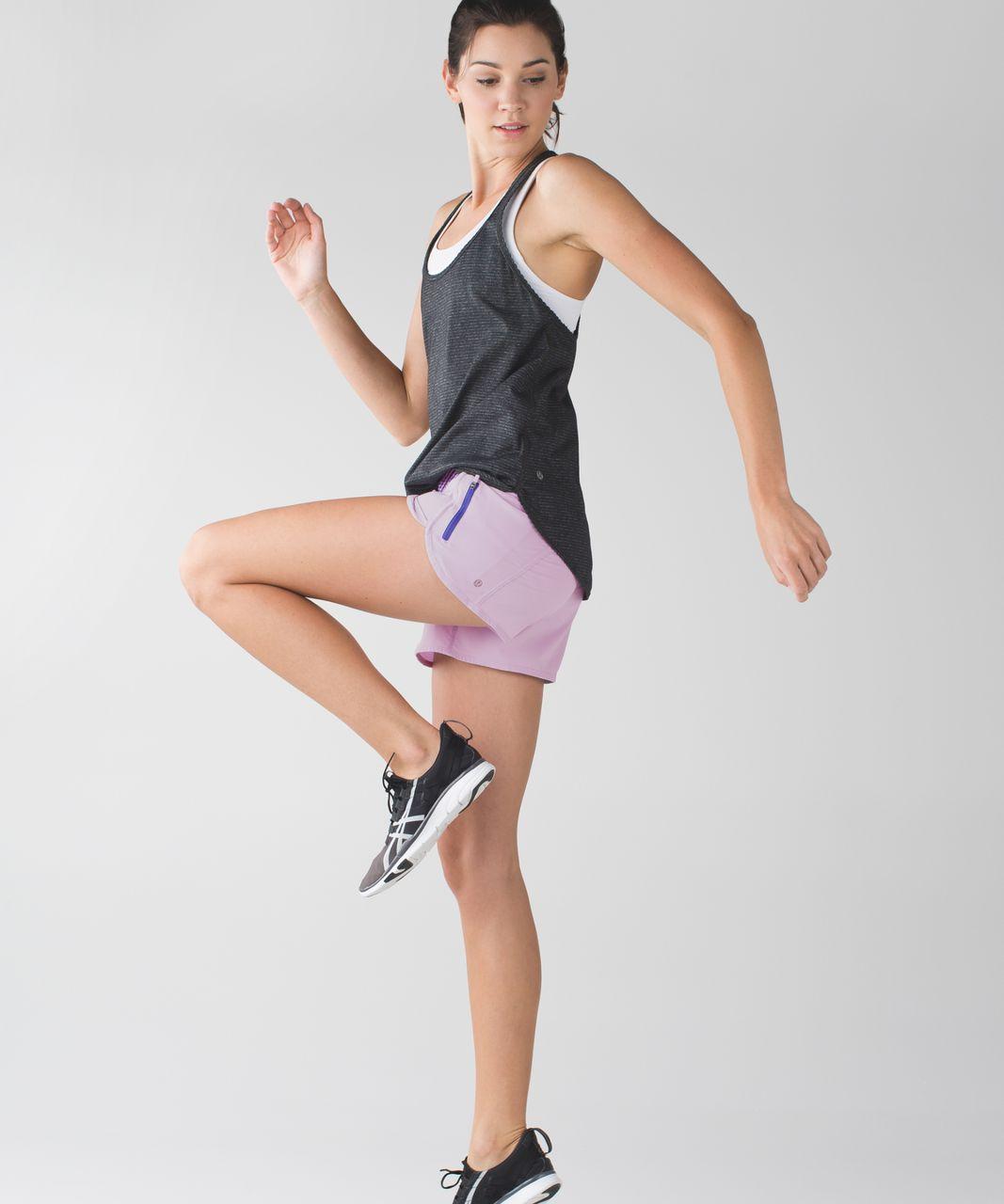 Lululemon Tracker Short III *4-way Stretch - Pretty Purple / Classic Stripe Iris Flower Pretty Purple
