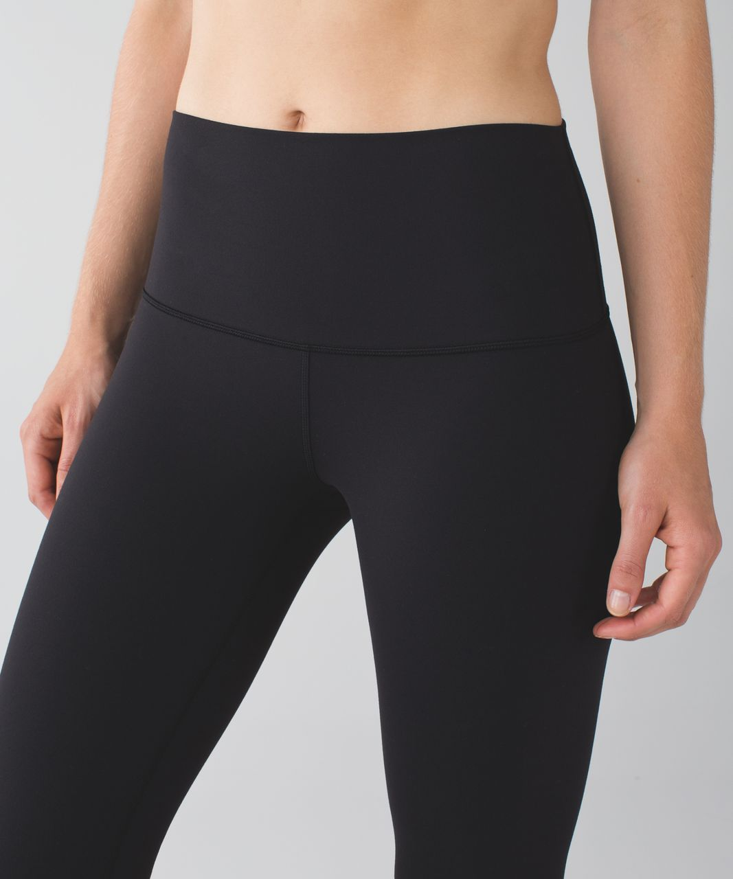 Lululemon Wunder Under Crop II *Full-On Luon (Roll Down) - Black