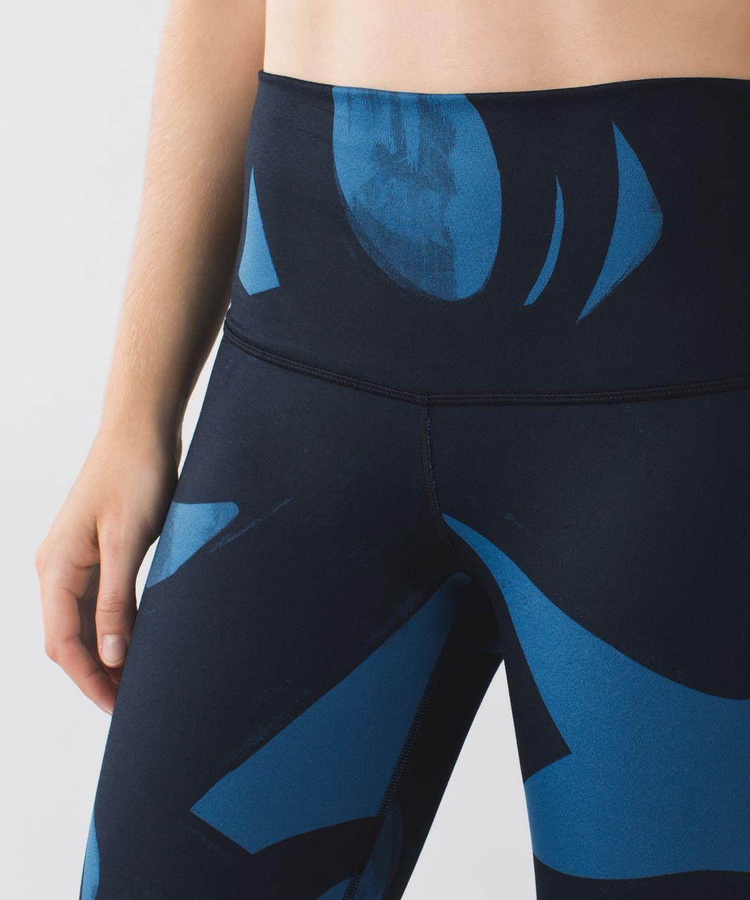 Lululemon Wunder Under Pant *Full-On Luon (Roll Down) - Back Spin Stroke Poseidon Black