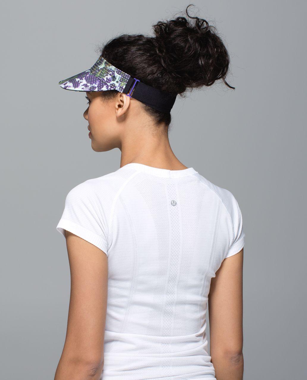 Lululemon Fast Paced Run Visor - Floral Sport White Multi / Black
