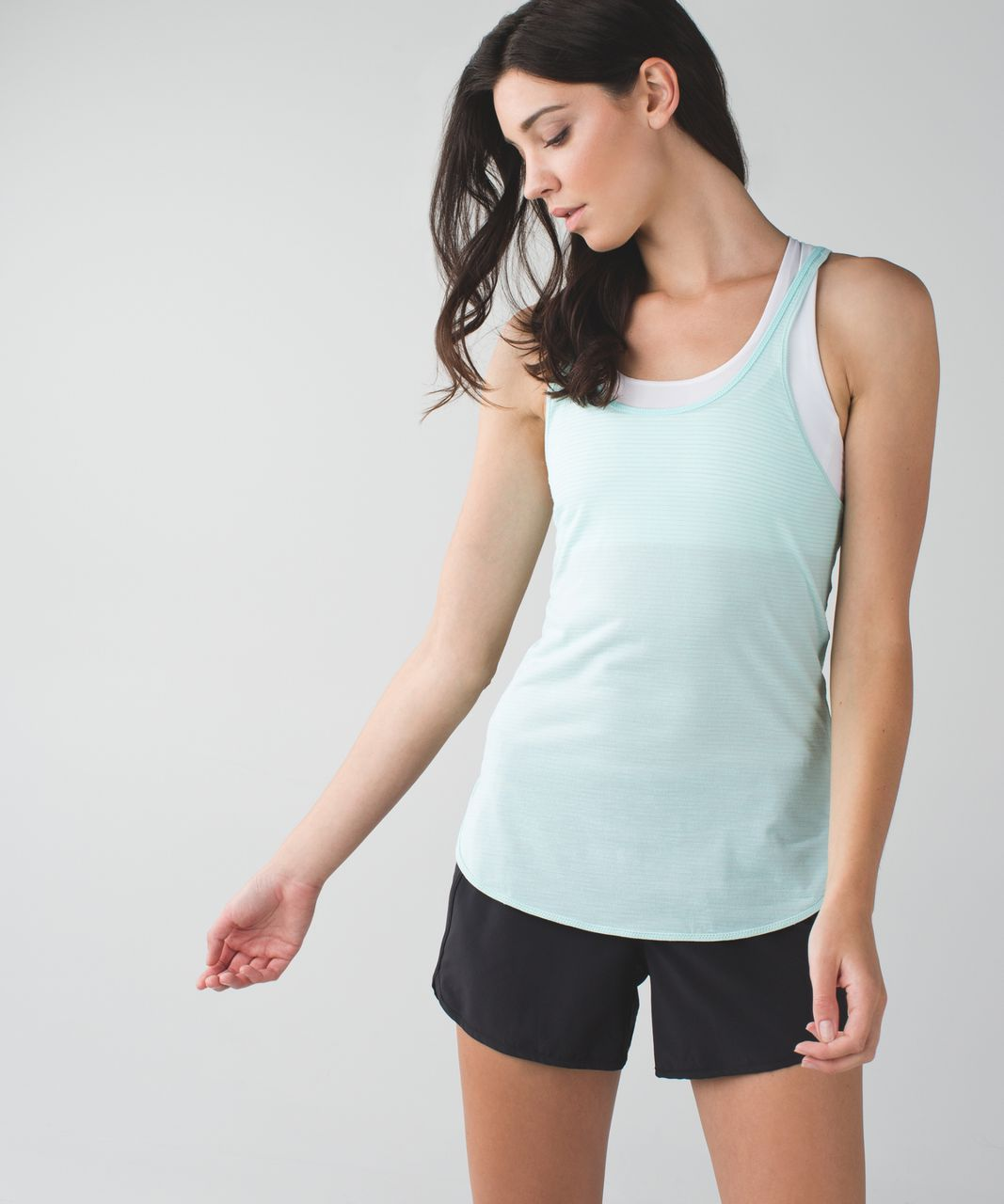 Lululemon What The Sport Singlet - Heathered Tranquil Blue