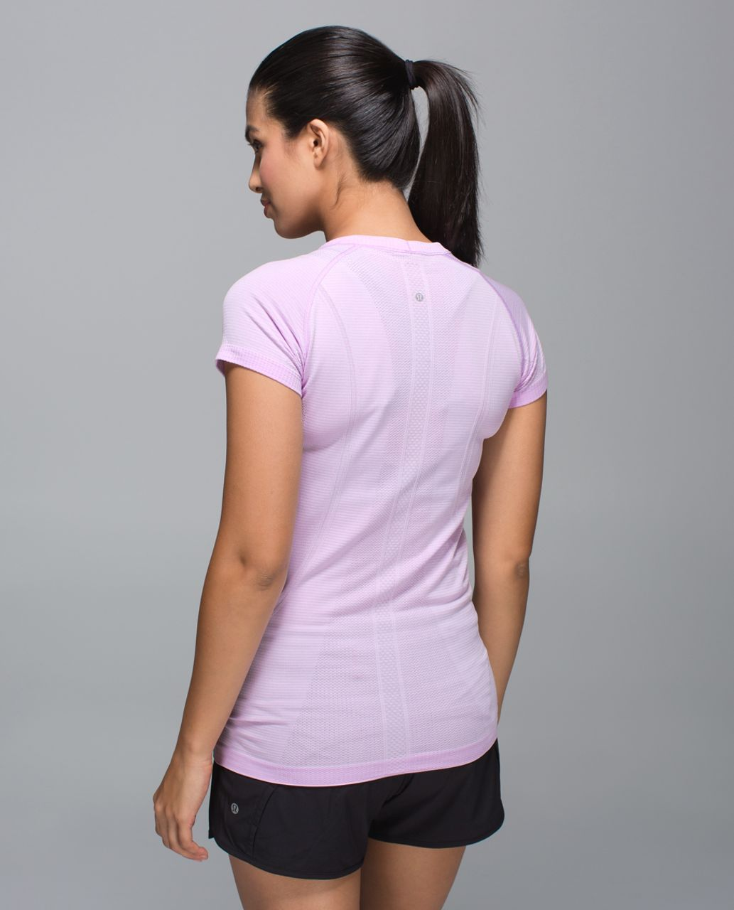 Lululemon Swiftly Tech Short Sleeve Crew - Heathered Pretty Purple