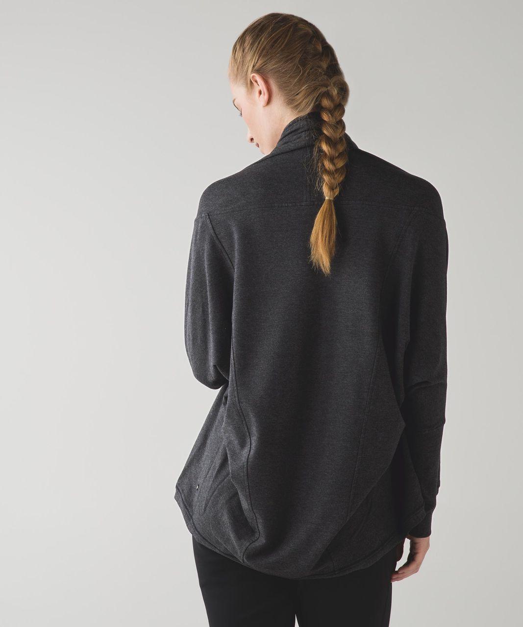Lululemon To & Flow Wrap - Heathered Mod Black
