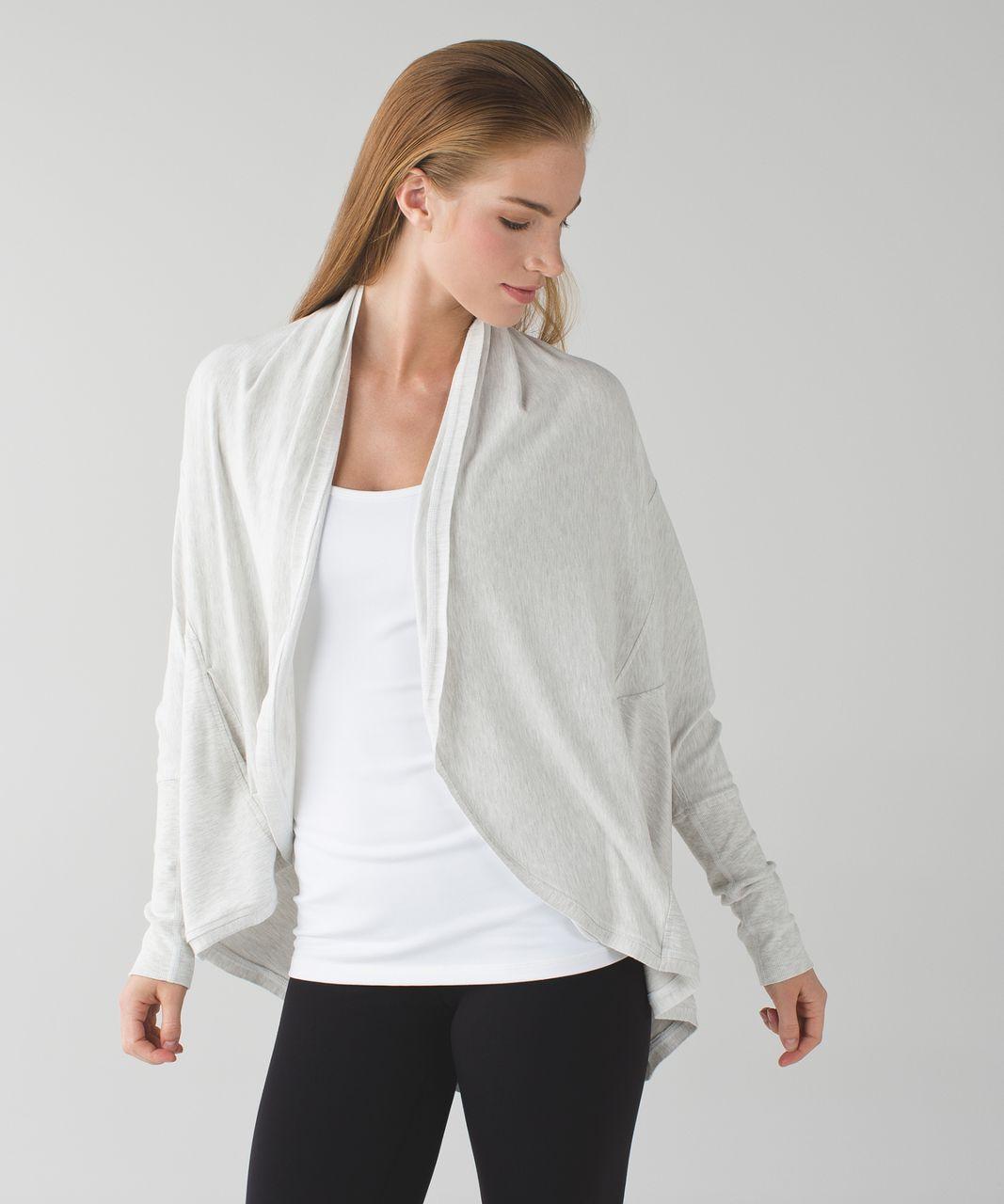 Lululemon To & Flow Wrap - Heathered Mod White - lulu fanatics