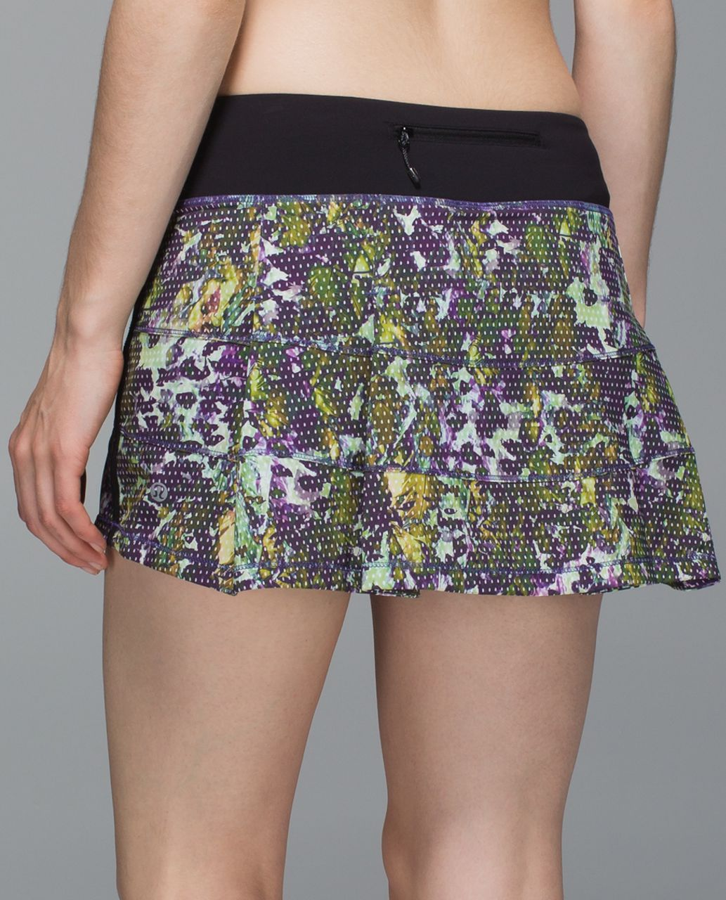 Lululemon Pace Rival Skirt II *4-way Stretch (Regular) - Floral Sport White Multi / Black