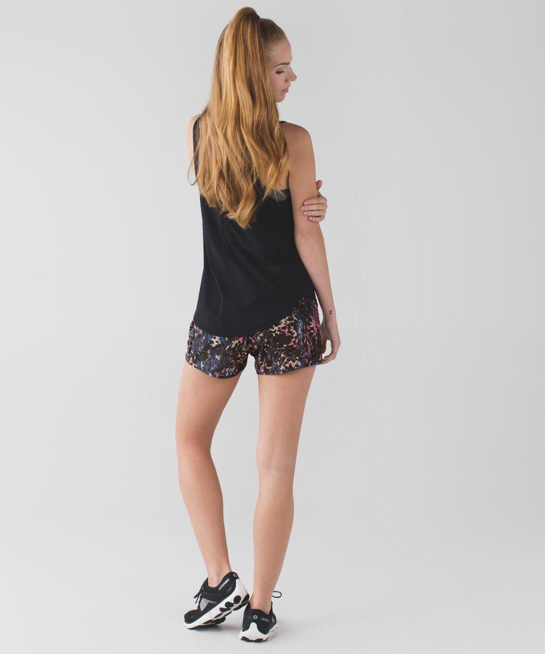 Lululemon Run Times Short *4-way Stretch - Floral Sport Black Multi / Black
