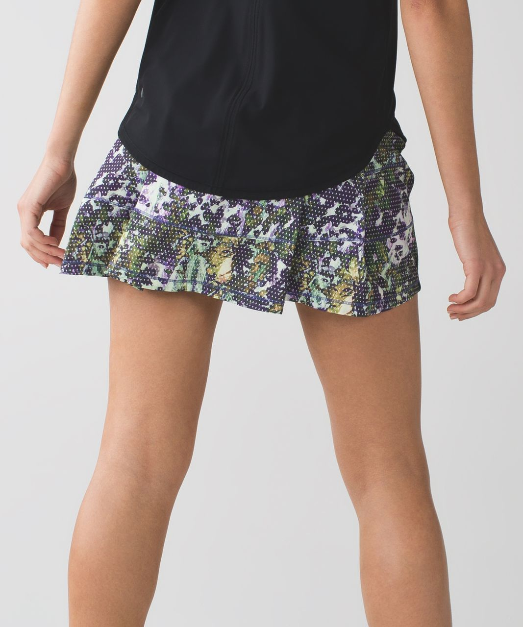 Lululemon Pace Rival Skirt II *4-way Stretch (Tall) - Floral Sport White Multi / Black