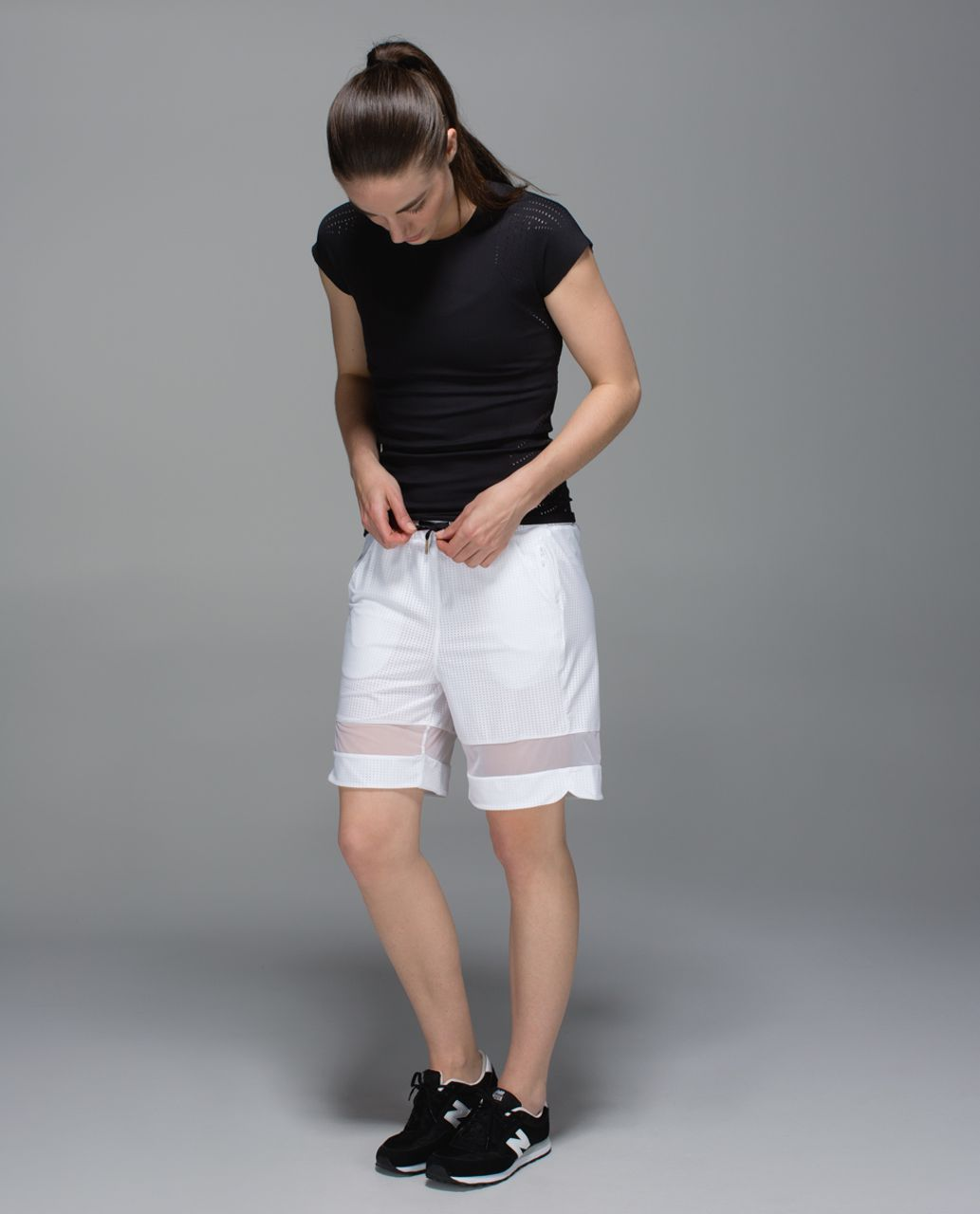 Lululemon Sweaty Or Not Long Short - White