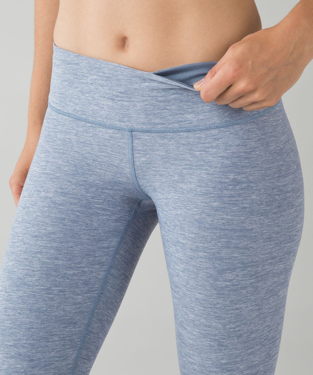 Lululemon Wunder Under Pant - Heathered Blue Denim