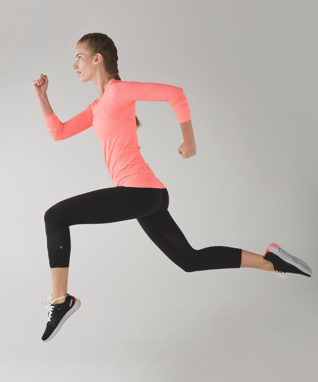 Lululemon Swiftly Tech Long Sleeve Crew - Heathered Grapefruit