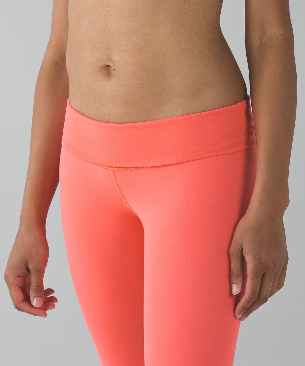 Lululemon Wunder Under Pant *Full-On Luon (Reversible - Roll Down) - Grapefruit / Slate