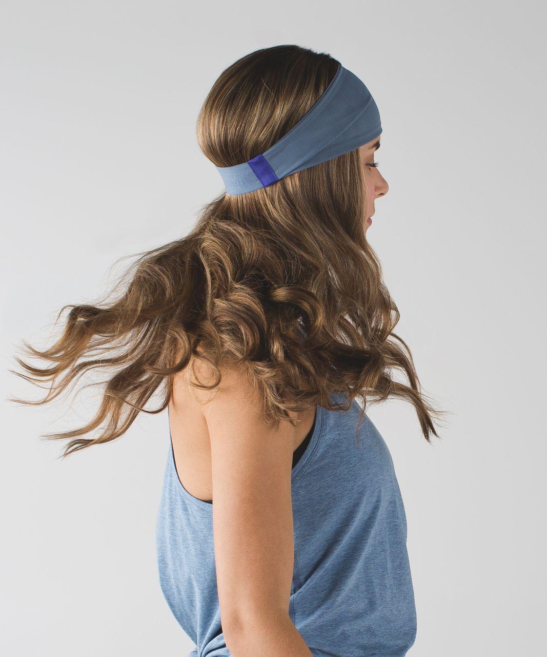 Lululemon Fringe Fighter Headband *Mesh - Blue Denim