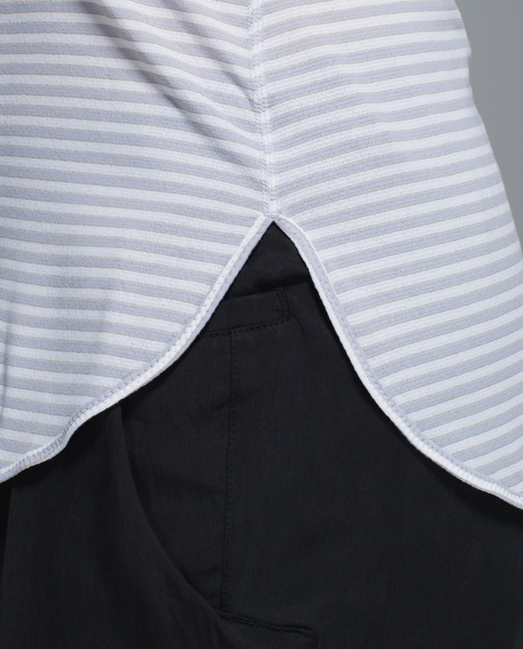 Lululemon What The Sport Singlet - Silver Stripe Silver Fox White / Alarming