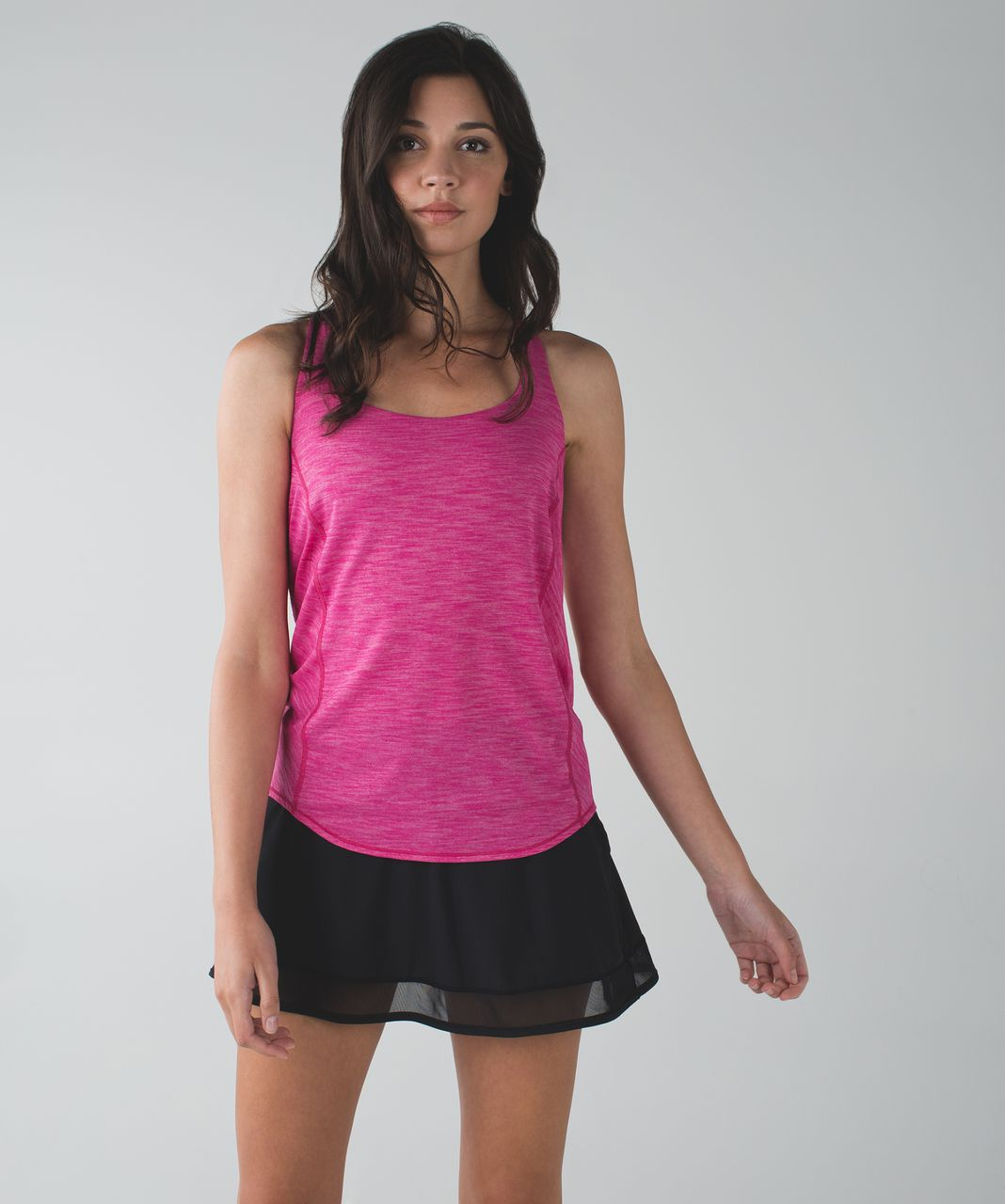 Lululemon Wild Tank - Heathered Jewelled Magenta / Dottie Dash White Black