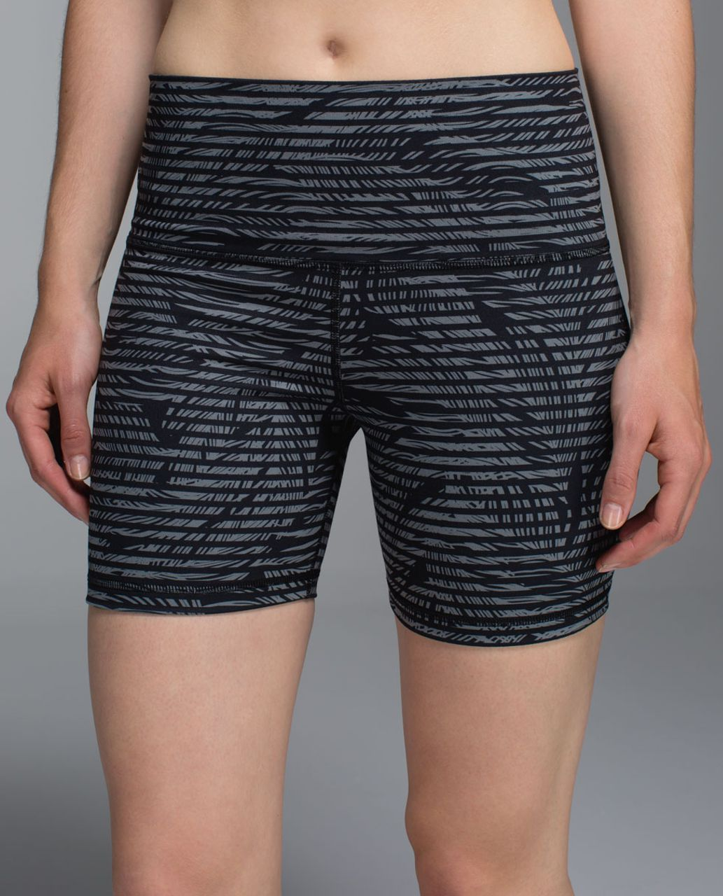 Lululemon Groove Short II (Roll Down - Regular) - Stripe Play Slate Black