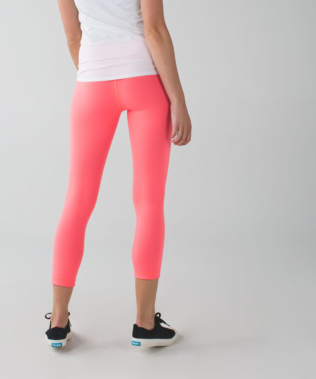 4568653d7ca890 Lululemon Wunder Under Crop II (Reversible) - Grapefruit / Slate - lulu  fanatics