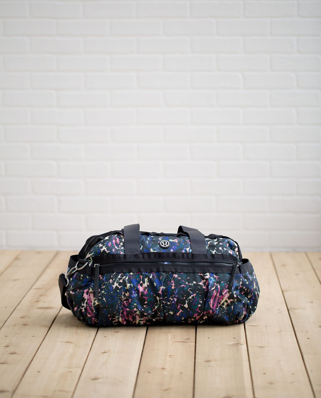 1ab78f2607d Lululemon Gym To Win Duffel - Floral Backdrop Black Multi / Deep Coal - lulu  fanatics