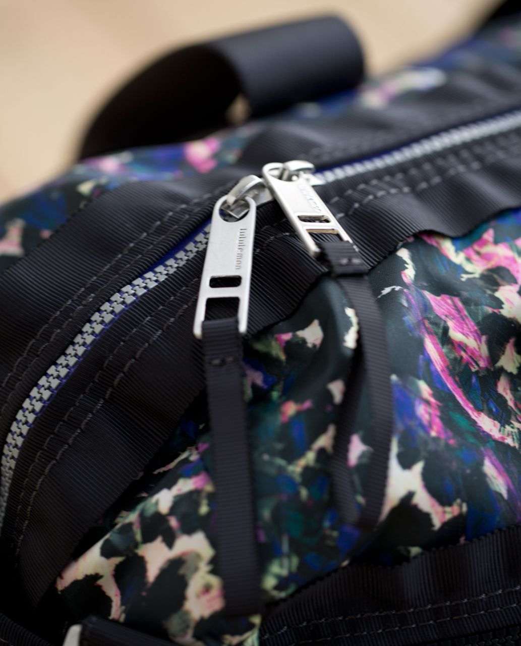 Lululemon Gym To Win Duffel - Floral Backdrop Black Multi / Deep Coal