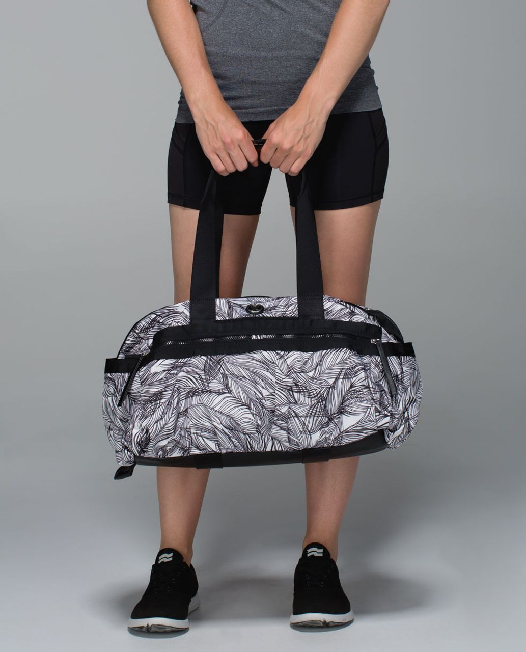 6509b7388ba Lululemon Gym To Win Duffel - Sketchy Palms White Black / Black - lulu  fanatics
