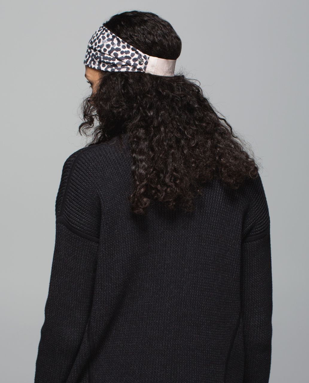 Lululemon Fringe Fighter Headband - Ace Spot Grain Black / Heathered Alarming