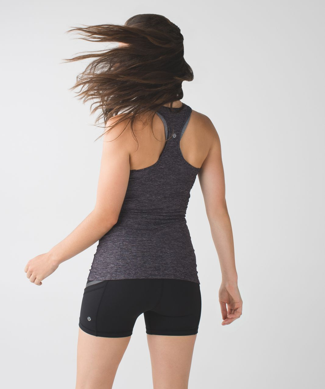 Lululemon Cool Racerback - Heathered Naval Blue