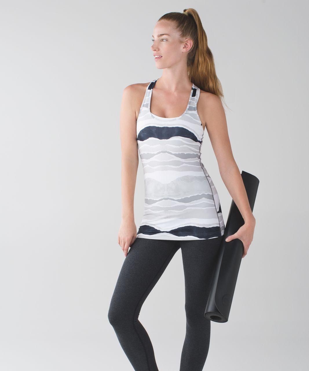 Lululemon Cool Racerback - Bleacher Stripe White Black