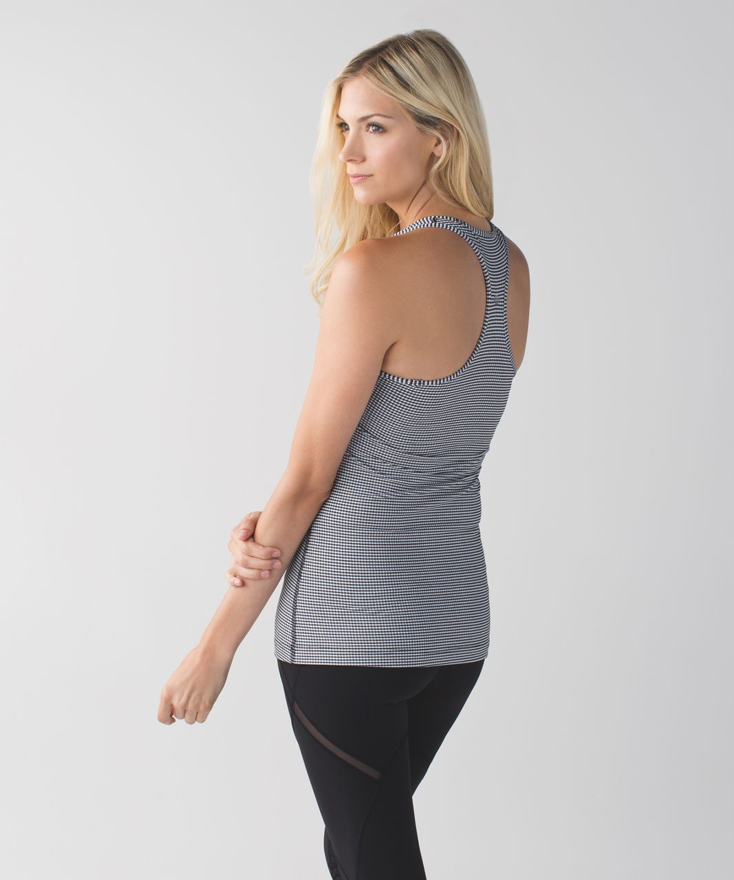 Lululemon Cool Racerback - Gingham Luon White Black