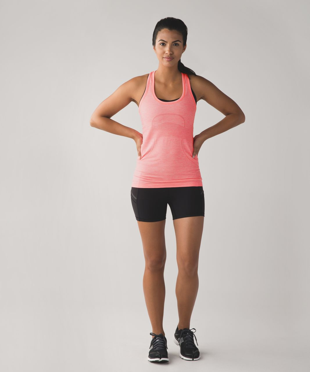 Lululemon Swiftly Tech Racerback - Heathered Flash Light