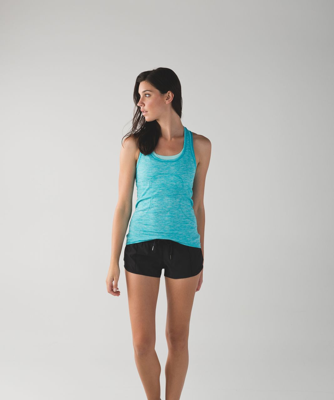 Lululemon Swiftly Tech Racerback - Heathered Peacock Blue